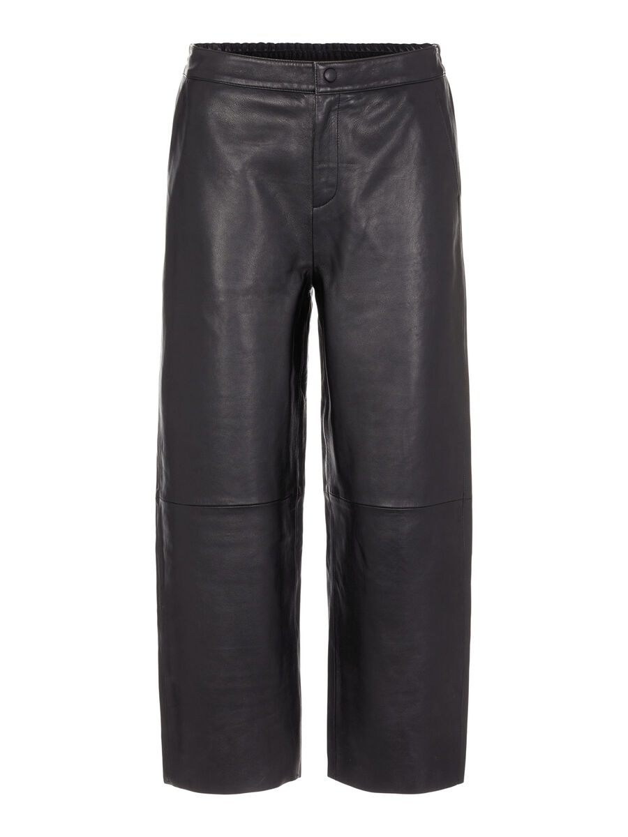 Object Collectors Item LEATHER TROUSERS, Black, highres - 23034412_Black_001.jpg