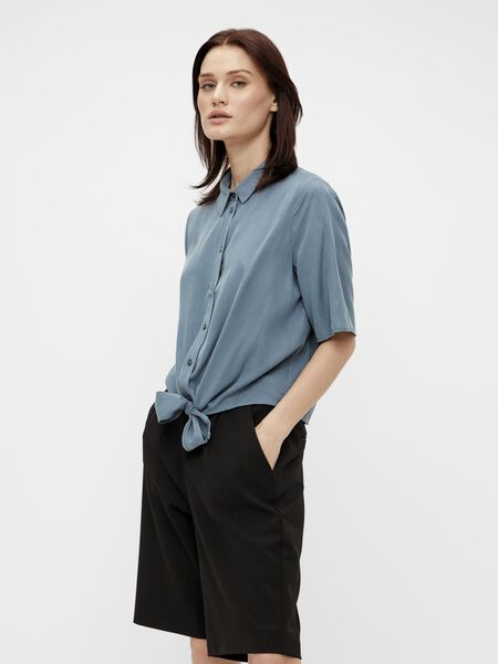 TIE FRONT SHORT SLEEVED SHIRT