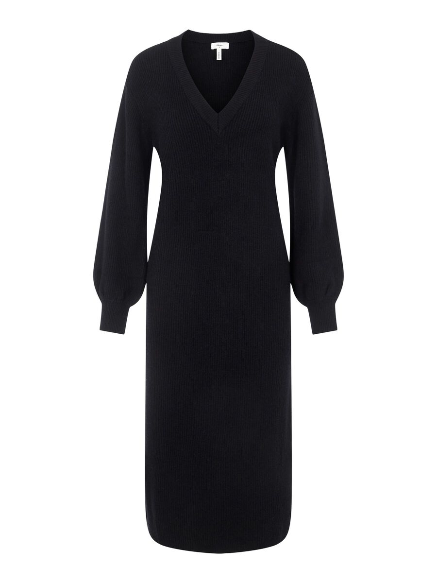 Object Collectors Item BALLOON SLEEVED KNITTED DRESS, Black, highres - 23035775_Black_001.jpg