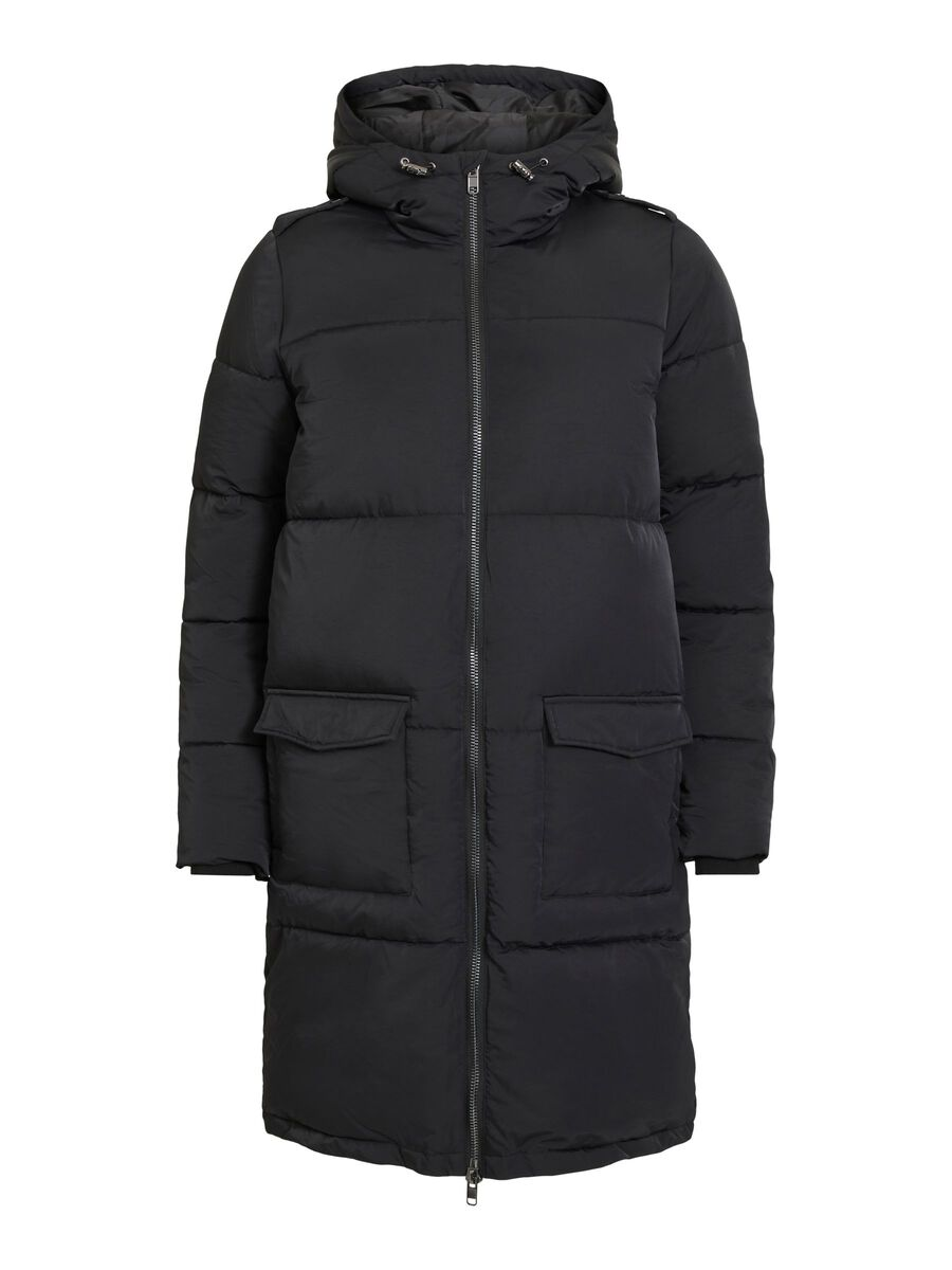 Object Collectors Item HOODED QUILTED COAT, Black, highres - 23030254_Black_001.jpg
