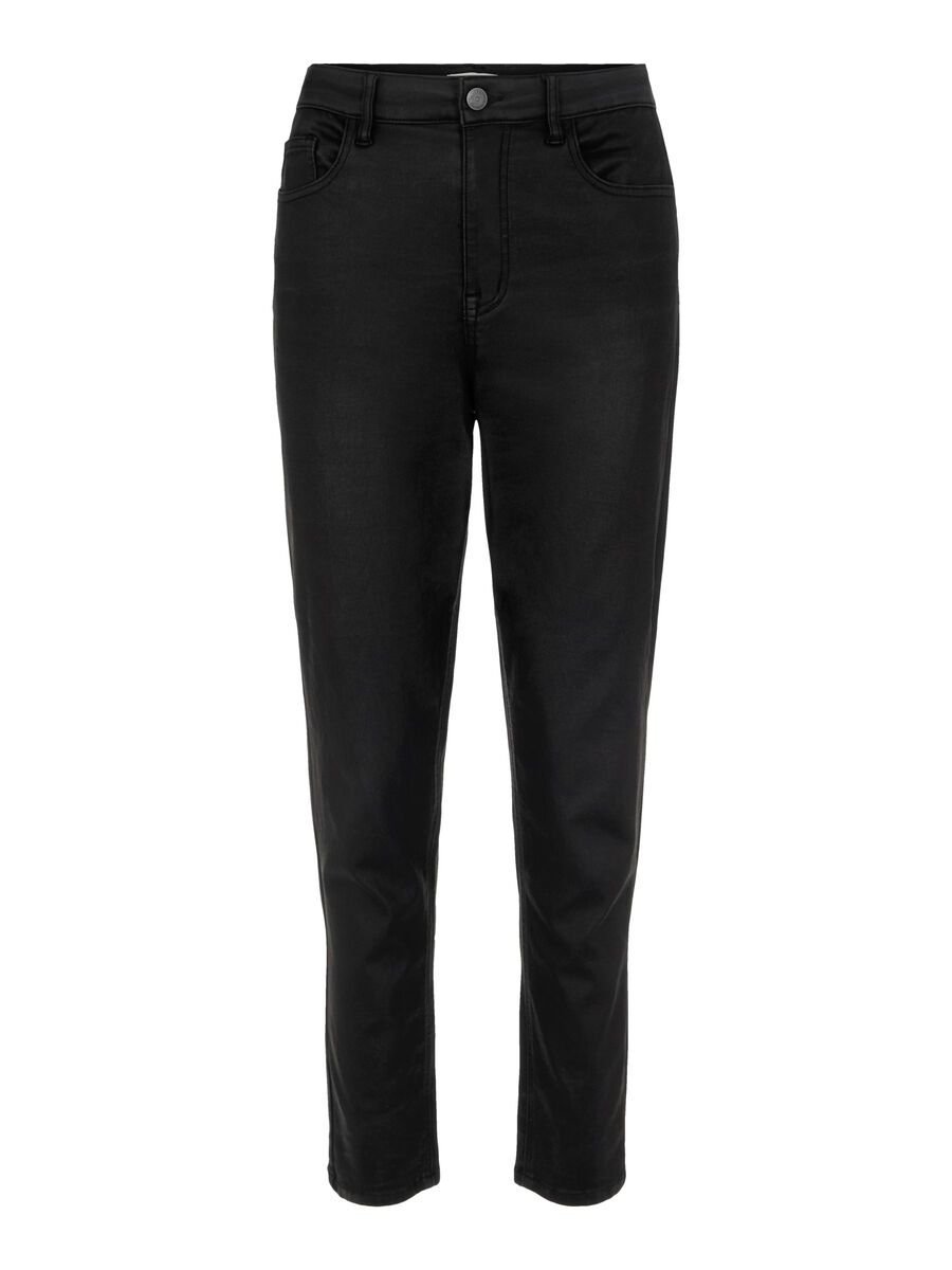 Object Collectors Item COATED HIGH WAISTED JEANS, Black, highres - 23035147_Black_001.jpg