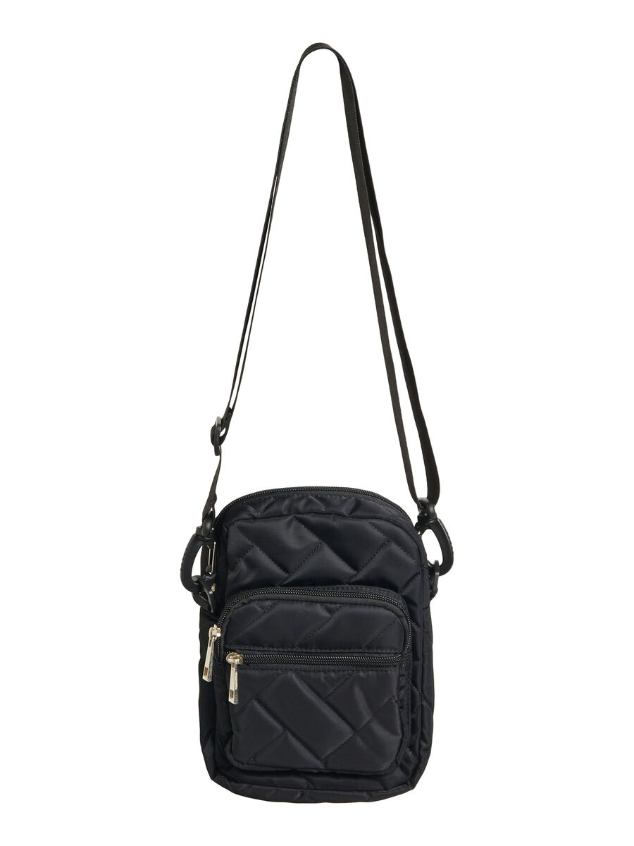 QUILTED CROSSBODY BAG, Black, highres